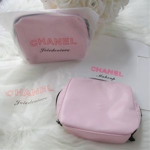 e8113e55042a CHANEL Bags | New Blush Signature Leather Makeup Bag Case | Poshmark